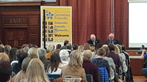 Ian Sherriff with Professor George speaking at the 2017 Plymouth International Dementia Conference