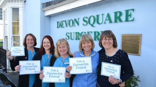 Devon Square in Newton Abbot becoming Dementia Friendly GP Surgery