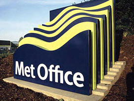 Met Office sign